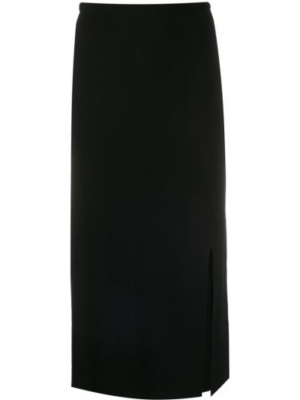 Черная прямая с завышенной талией юбка карандаш с разрезом Dvf Diane Von Furstenberg