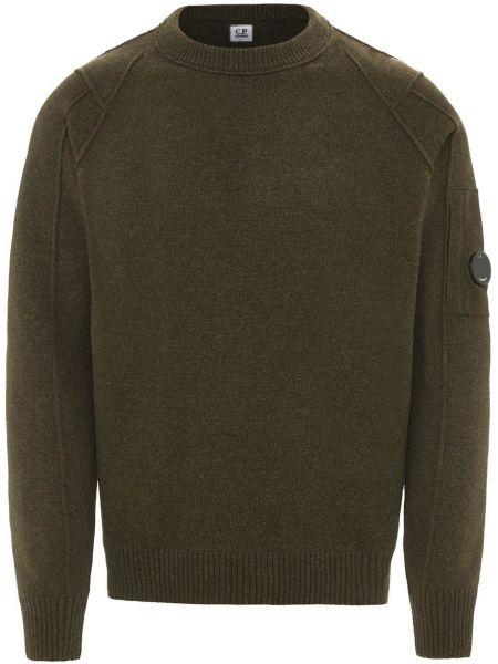 Шерстяной свитер - зеленый C.p. Company