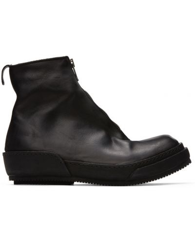 Buty skórzane na wysokości czarne Guidi