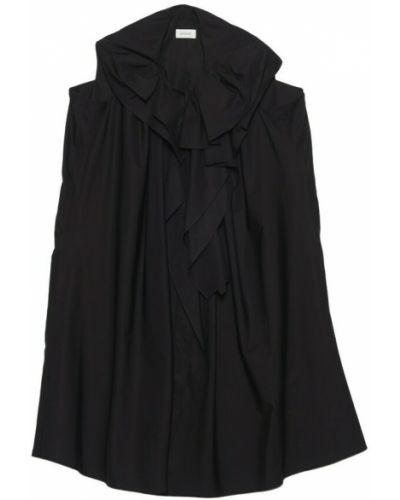 Czarna sukienka Lemaire
