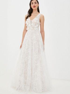 Свадебное свадебное платье - белое Soky & Soka