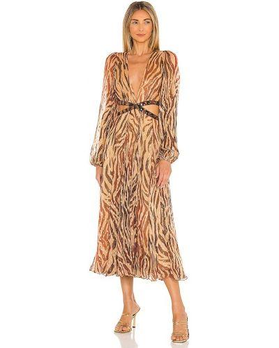 Вечернее платье миди - золотое Rococo Sand