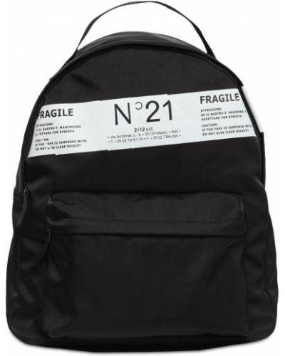 Czarny plecak z nylonu N°21