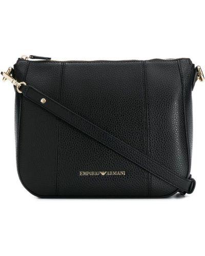 Черная большая сумка Emporio Armani