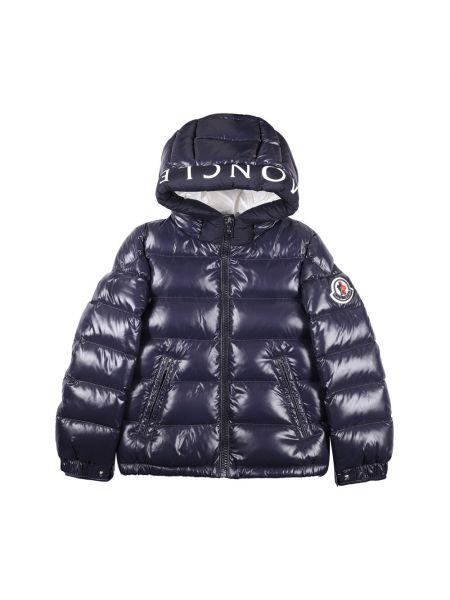 Niebieska kurtka bawełniana Moncler