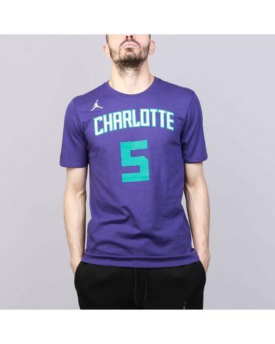 Фиолетовая футболка хлопковая Jordan