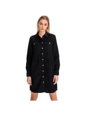Czarna sukienka bawełniana Lee