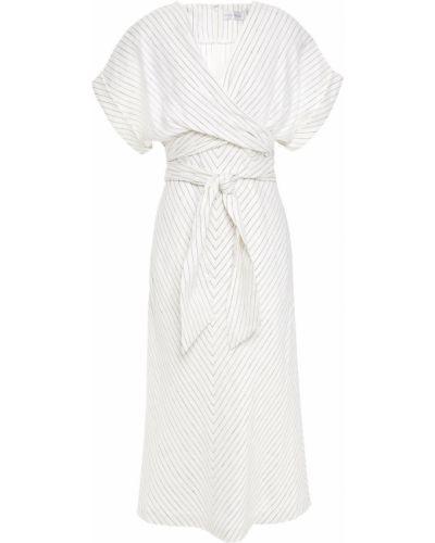 Льняное платье миди - белое Rebecca Vallance