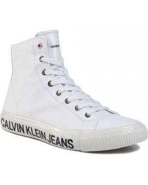 Jeansy dżinsowa biały Calvin Klein Jeans