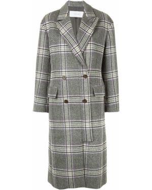 Шерстяное пальто на пуговицах с капюшоном Le Ciel Bleu