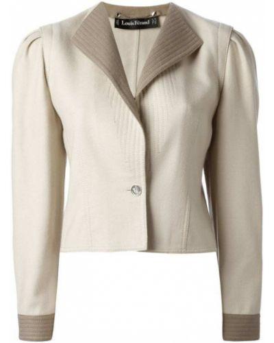 Классический пиджак на пуговицах винтажный с подстежкой Louis Feraud Pre-owned