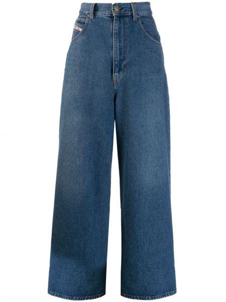 Широкие джинсы с отворотом на пуговицах Diesel