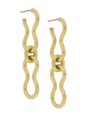 Złote kolczyki sztyfty Ellery