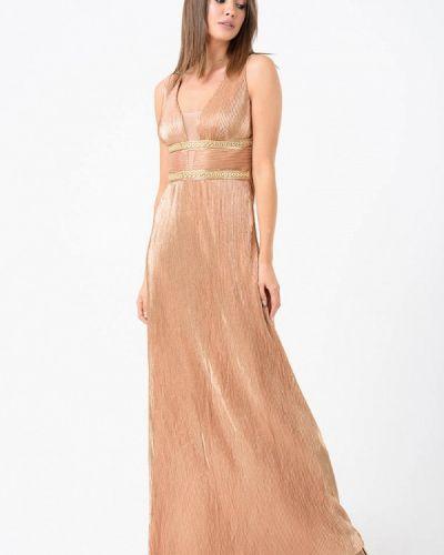 Вечернее платье золотое Ricamare