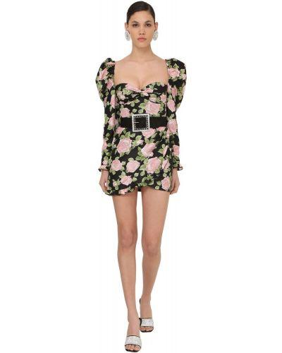 Платье мини на молнии с длинными рукавами Alessandra Rich