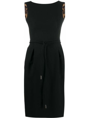 Шерстяное черное платье без рукавов с подкладкой Dolce & Gabbana Pre-owned