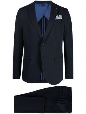 Niebieski garnitur bawełniany z paskiem Manuel Ritz
