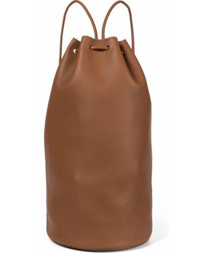 Коричневый рюкзак из натуральной кожи The Row