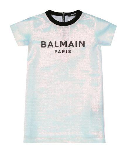 Sukienka z logo Balmain Kids