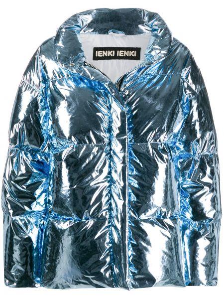 Синяя куртка металлическая круглая с круглым вырезом Ienki Ienki