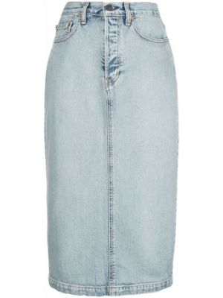 Юбка миди джинсовая на пуговицах Wardrobe.nyc