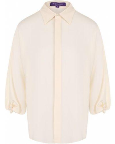 Блузка на пуговицах шелковая Ralph Lauren