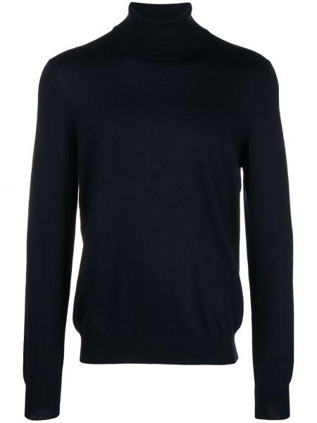 Синий шерстяной свитер Fay