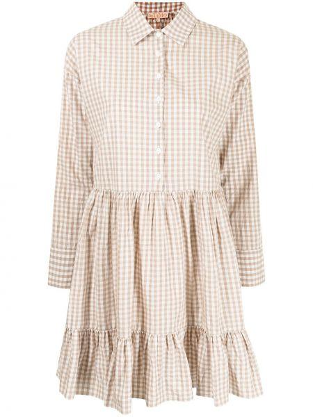 Beżowa sukienka rozkloszowana bawełniana Bytimo