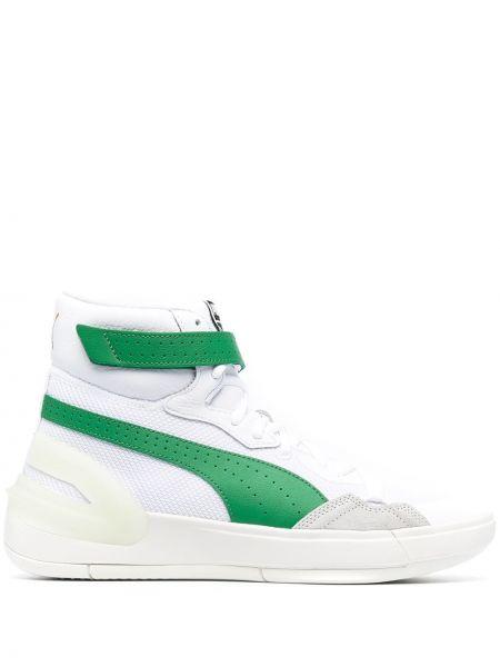 Markowe zielony koronkowa top Puma