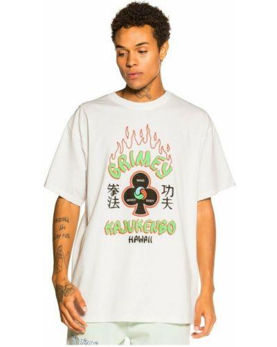Biała t-shirt Grimey