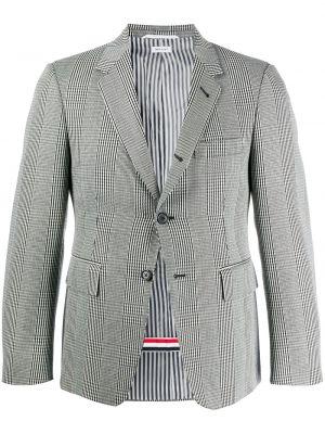 Шерстяной черный удлиненный пиджак на пуговицах Thom Browne