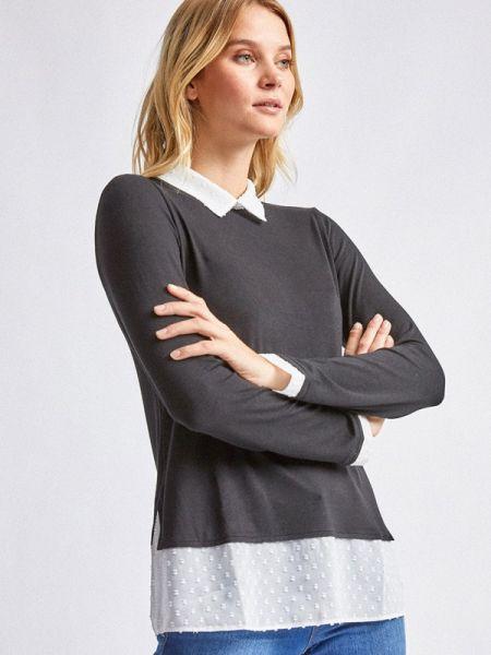 Серая блузка с длинным рукавом Dorothy Perkins