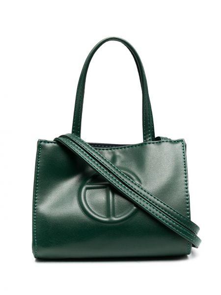 Zielona torebka skórzana Telfar