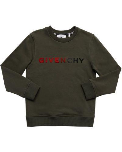 Хлопковый свитшот с воротником с манжетами милитари Givenchy