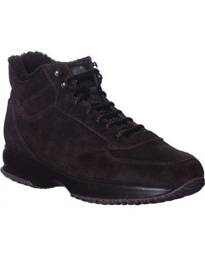 Кроссовки из полиуретана - коричневые Hogan