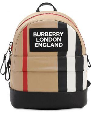 Plecak z logo skórzany Burberry
