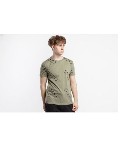 T-shirt bawełniana - zielona Alpha Industries