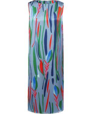 Платье с цветочным принтом шелковое Giorgio Armani
