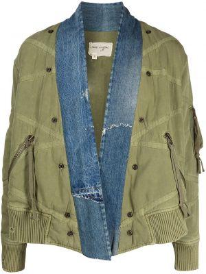 Зеленая куртка с манжетами Greg Lauren