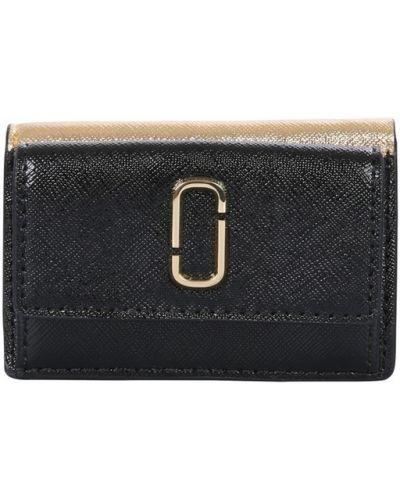 Brokatowy portfel - czarny Marc Jacobs