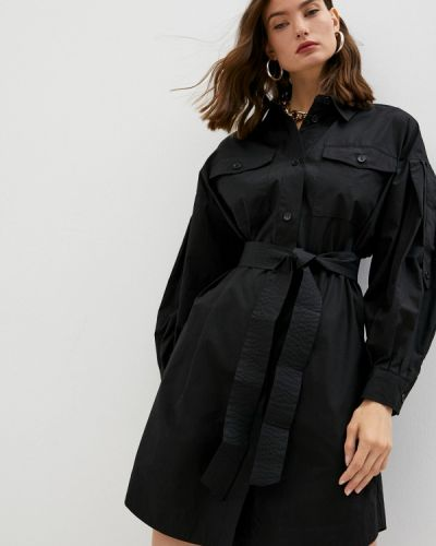 Черное платье осеннее Twinset Milano
