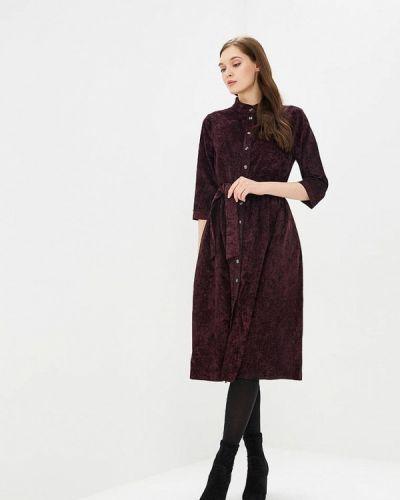 Платье бордовый платье-рубашка Max&style