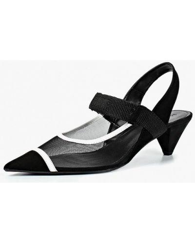 Туфли на каблуке с открытой пяткой замшевые Mango