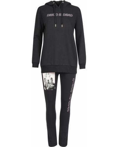 Хлопковый спортивный костюм - черный Zoe Karssen