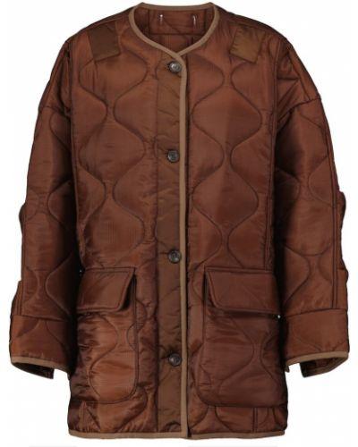Коричневая стеганая куртка Frankie Shop