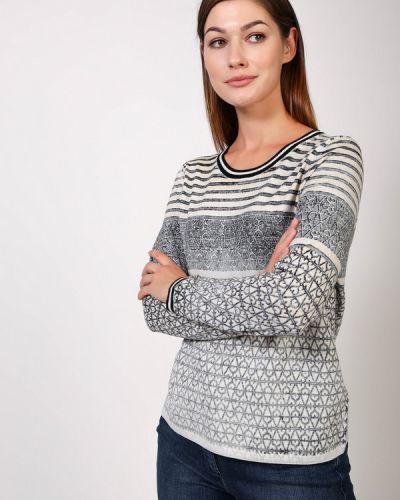 Хлопковый пуловер - серый Ouí