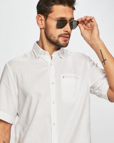 Рубашка с короткими рукавами с карманами белый Pierre Cardin
