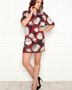 Платье мини шифоновое с вырезом Lautus