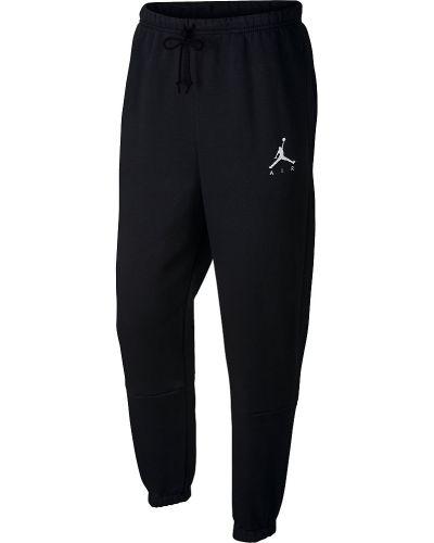 Флисовые черные брюки с начесом Jordan