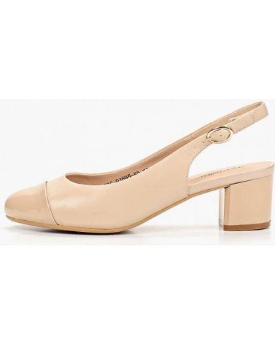 Туфли на каблуке кожаные с открытой пяткой Madella